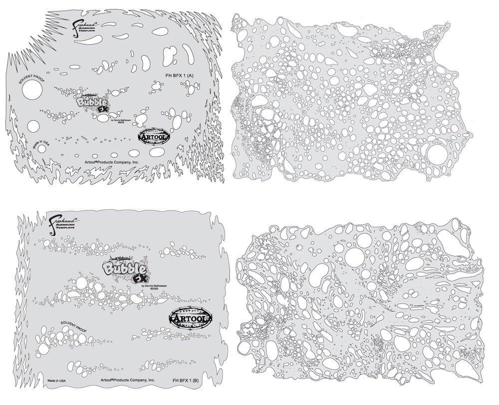 Texture Fx Mini Series IWATA-MEDEA Inc FH TFX 1 MS Artool Freehand Airbrush Templates